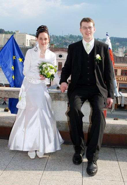 Lea{{_AND_}}Lukáš - na balkoně radnice