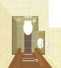 vizualizace: naše WC