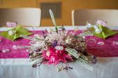 Ručně dělaná sušená kytice na stůl,