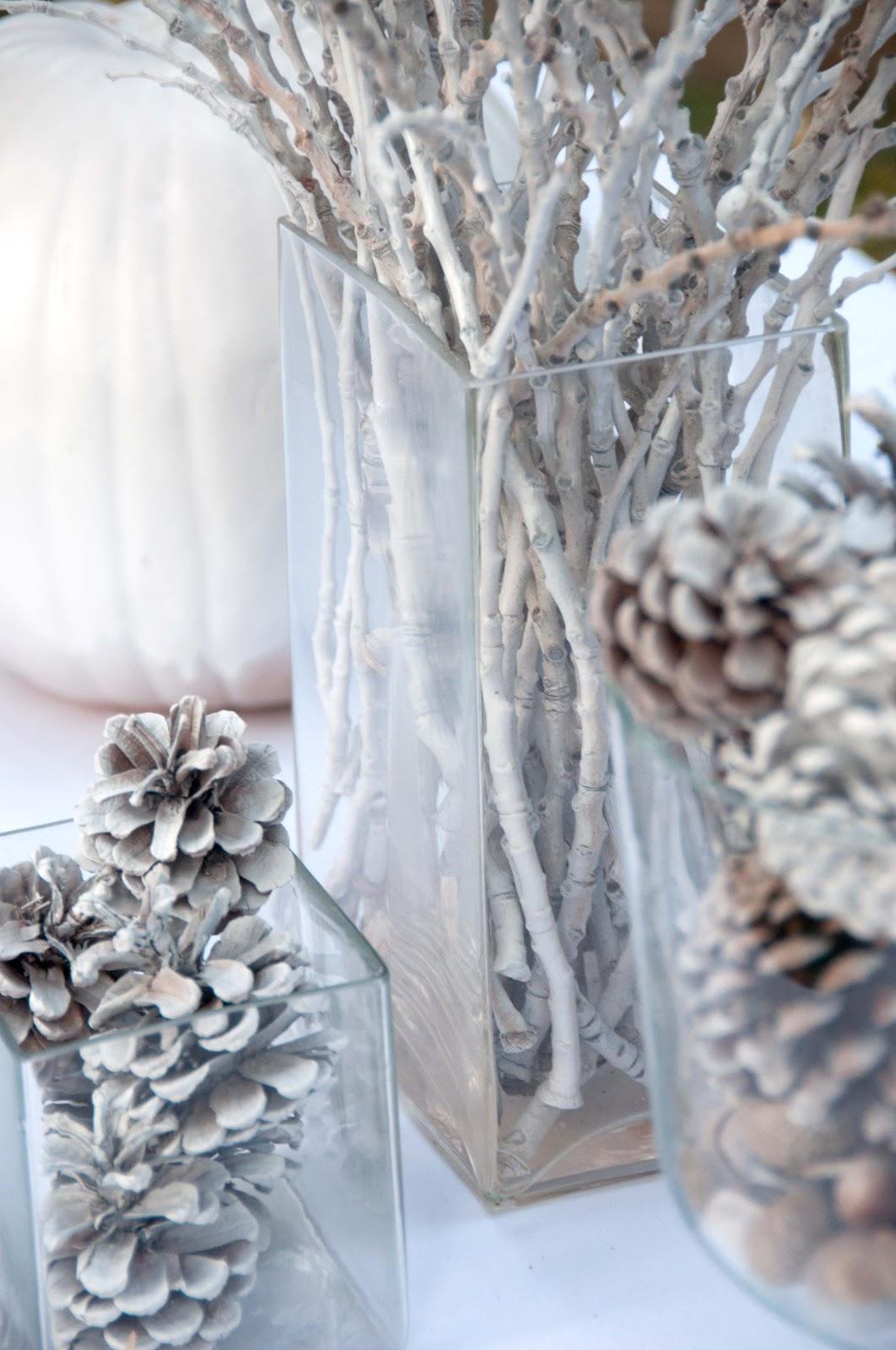 Dreaming of a white Christmas - Nějaké šišky už mám z loňska připravené...