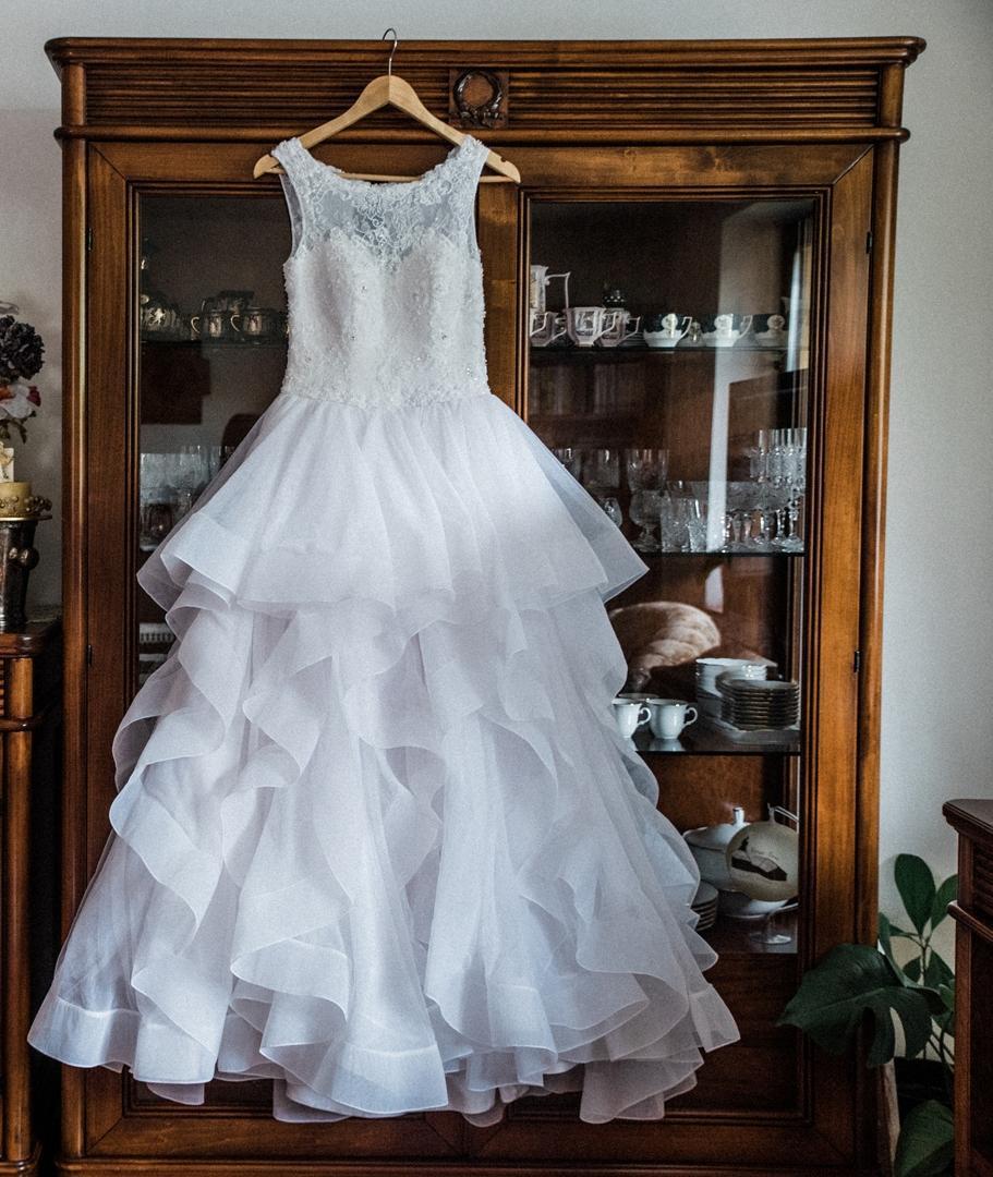 Princeznovské svadobné šaty 34/36 - Obrázok č. 1