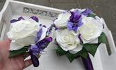 Svatební kytice včetně korsáže pro ženicha,