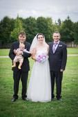svatební šaty 40-42 tylová sukně, 40