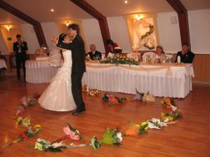prvý tanec manželovcov