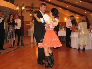 redový tanec, s otcom