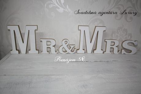Písmená MR&MRS  - Obrázok č. 1