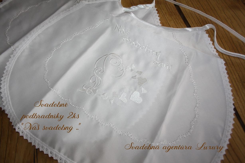 """Podbradníky """"Náš svadobný deň"""" 2ks - Obrázok č. 1"""