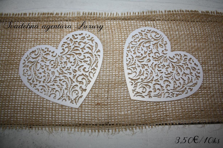 Papierové dekoračné srdce  - Obrázok č. 1