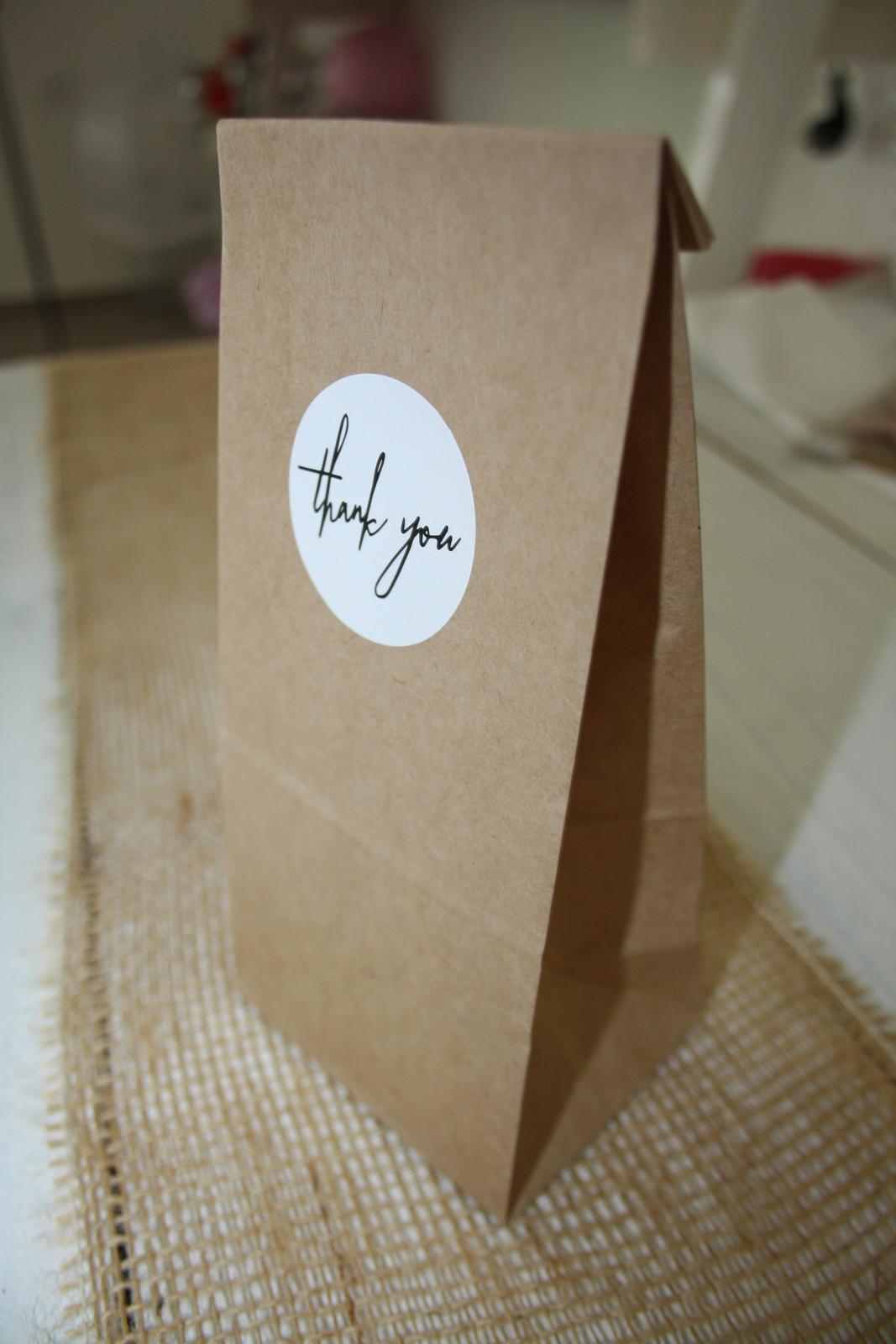 "Vrecko ""Thank you"" - Obrázok č. 1"