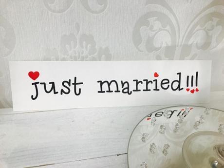 """Svadobná ŠPZ """"Just Married"""" - Obrázok č. 1"""