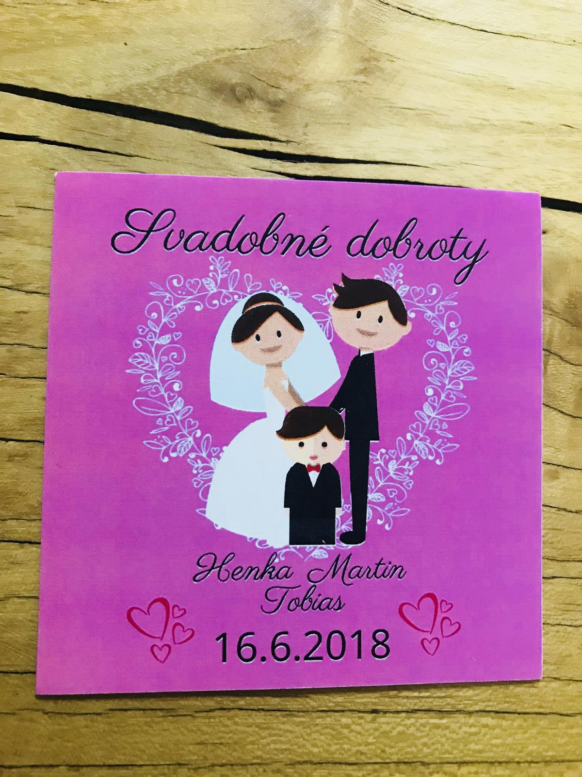Etikety na svadobne koláče  - Obrázok č. 4
