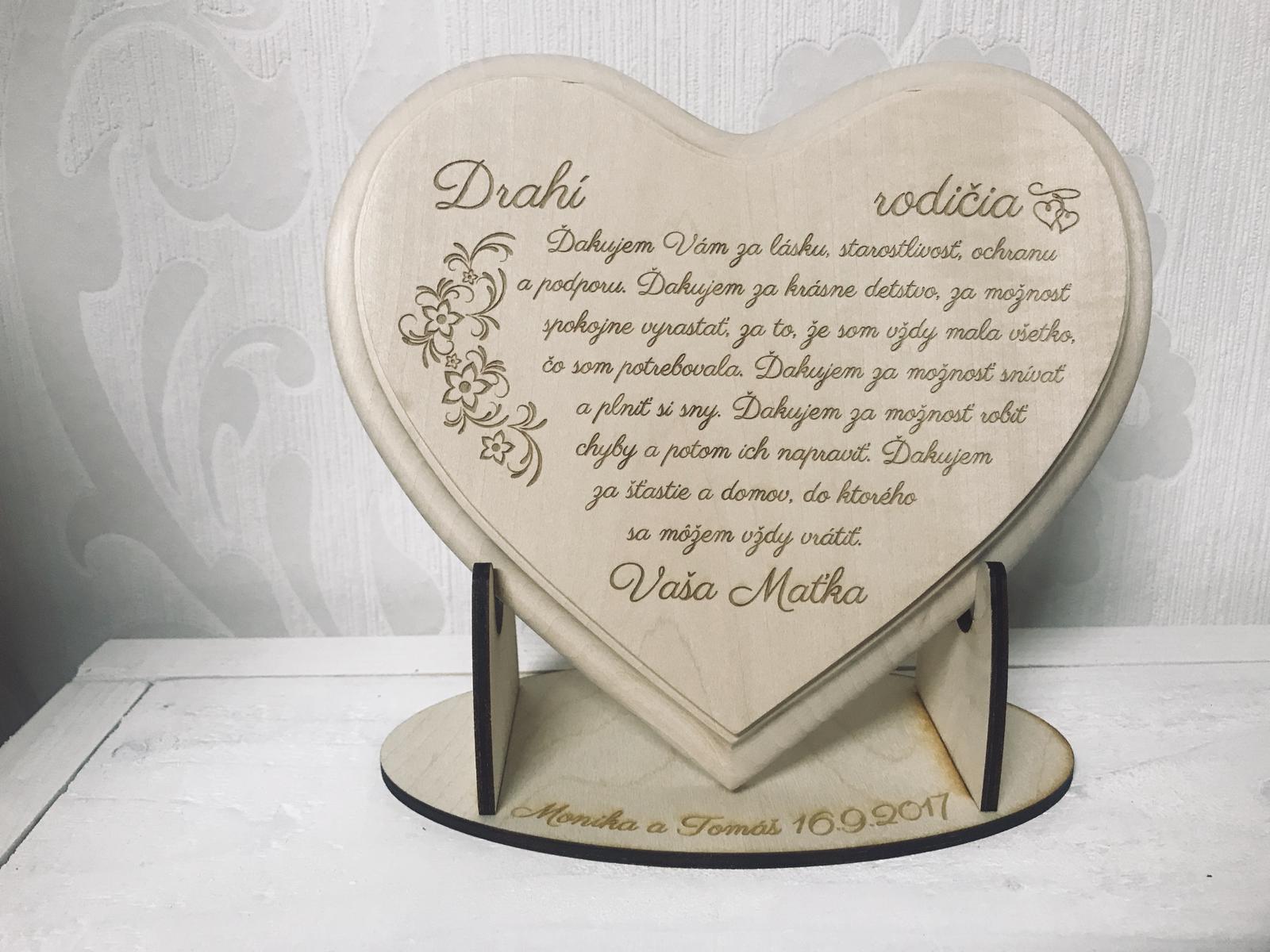 Lipové srdce -poďakovanie pre rodičov  - Obrázok č. 1
