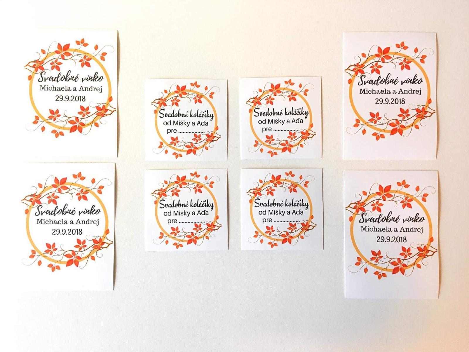 Etikety na svadobne koláče  - Obrázok č. 1