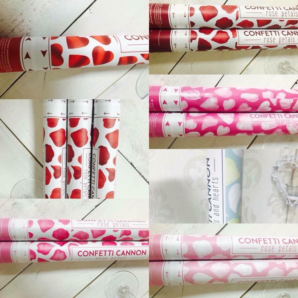 Vystreľovacie konfety ružové plátky ruží 40cm - Obrázok č. 1