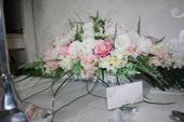Ikebana na hlavný stôl,