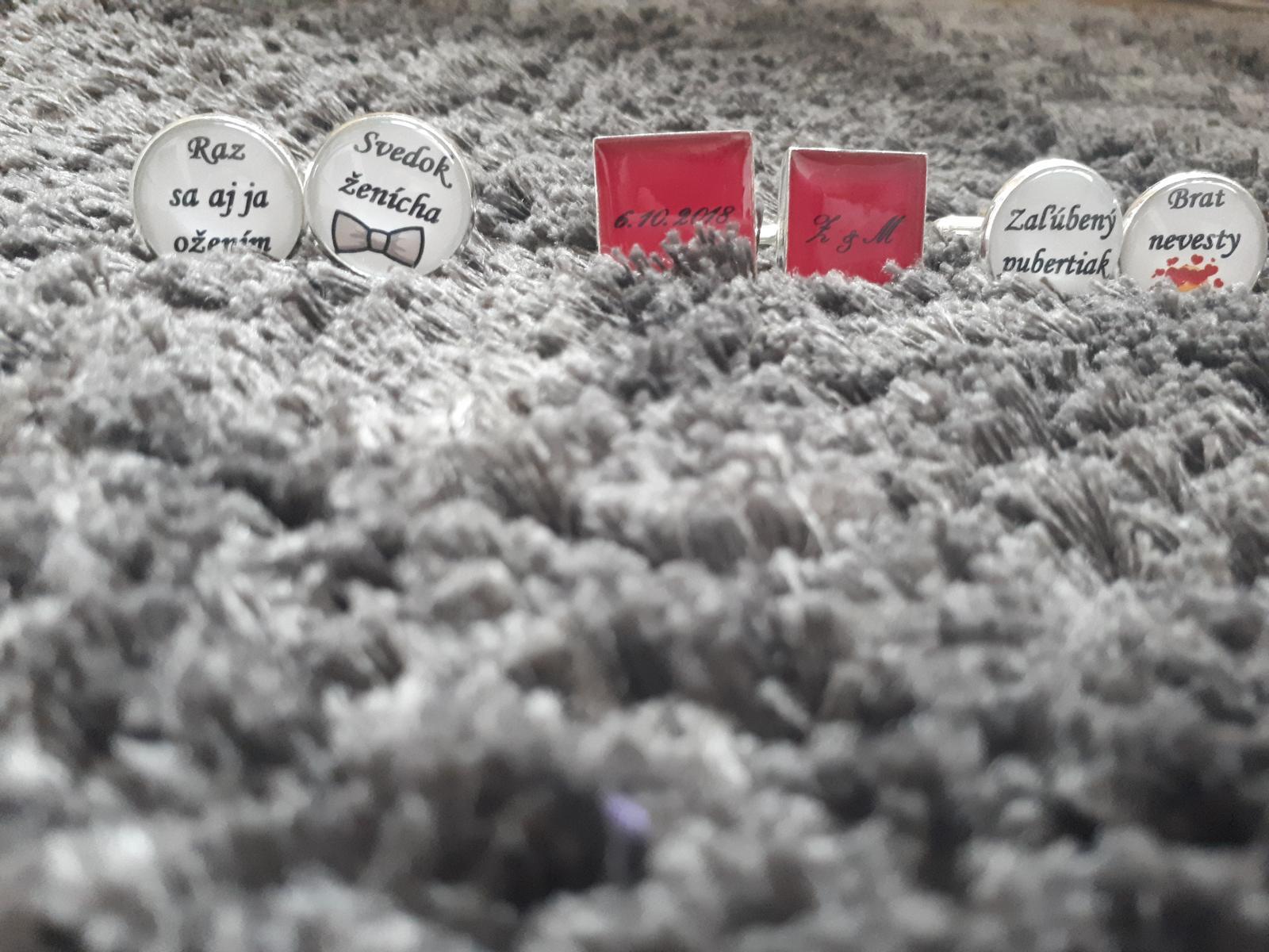 Čo už máme - Manžetové gombíky, pre ženícha, svedka a môjho brata :)