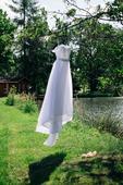 Svatební šaty - tylova sukně a krajkovy vršek , 38