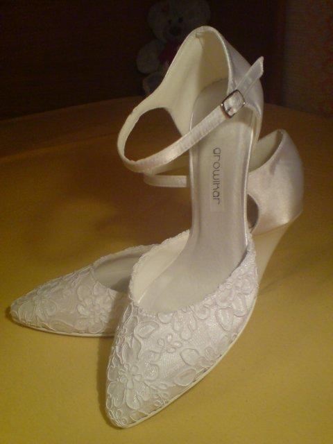 Pavučina snov - svadobné topánočky