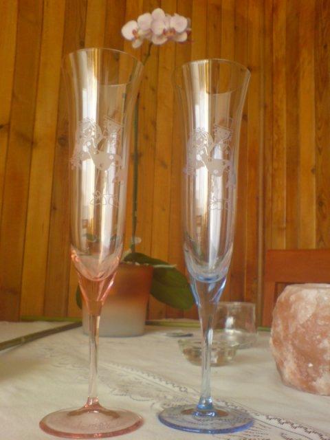 Pavučina snov - svadobné poháriky