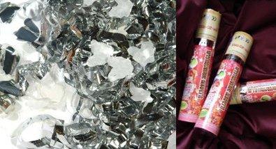 Pavučina snov - naše strieborné konfety malé 20 cm