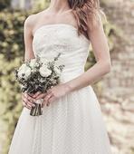 Svatební šaty s visačkou - az na 180cm postavu, 36