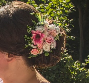 Kvetinový set do vlasov + opasok - Obrázok č. 4