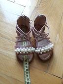 metalické ružové sandálky s perličkami, 19