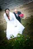 Svatební šaty vel. 44-46 mozno i s koziskem, 44