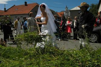 ani ve svatební den