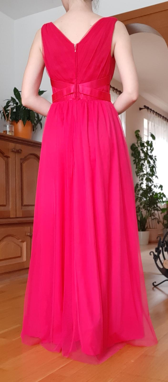 Ružové spoločenské šaty, veľ. 34 - Obrázok č. 3