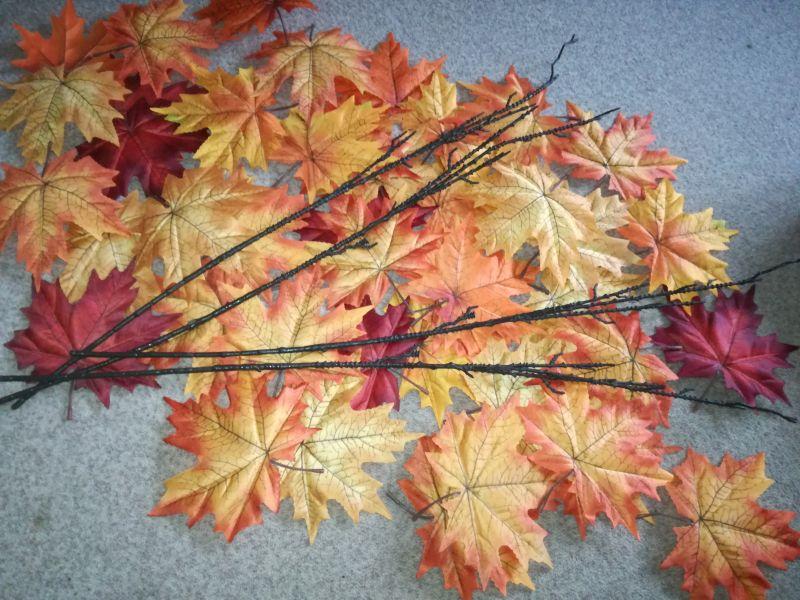 Umělé listy na výzdobu podzimní svatby - Obrázek č. 1