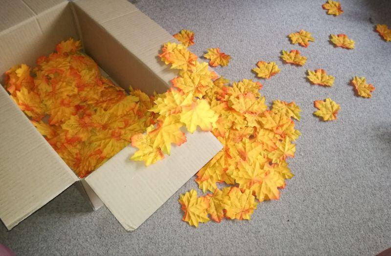 Umělé listy na výzdobu podzimní svatby - Obrázek č. 3