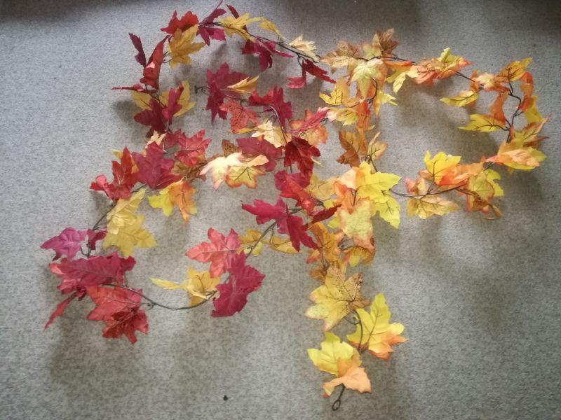 Umělé listy na výzdobu podzimní svatby - Obrázek č. 4