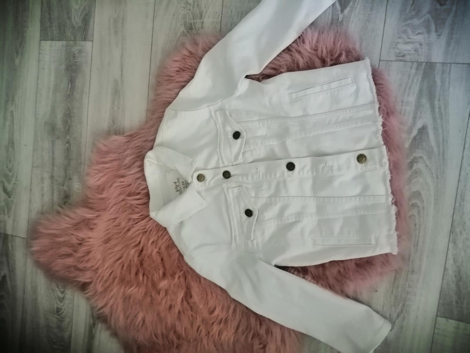 Bílá riflová bunda - Obrázek č. 1