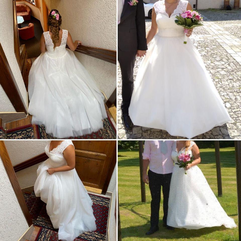 Svatební šaty vel. 40 až 46, cena dohodou - Obrázek č. 1