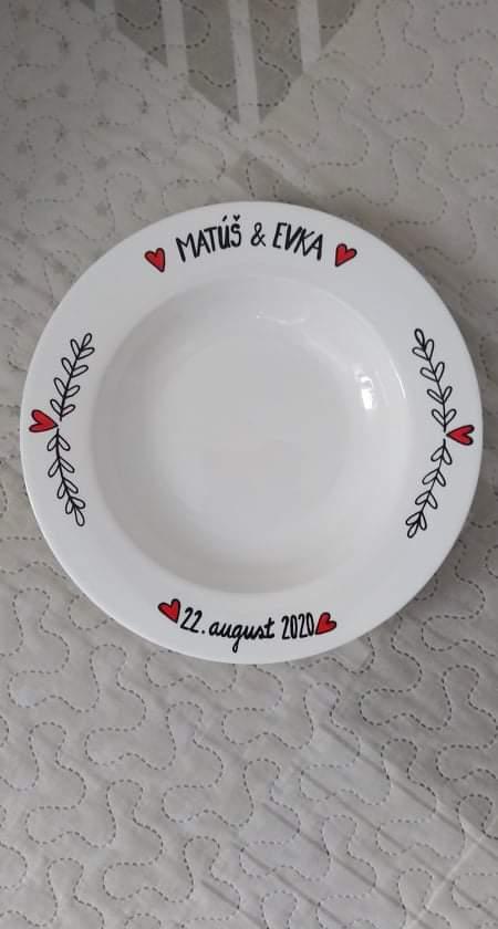 Svadobný tanier podľa zelania - Obrázok č. 1