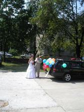 příjezd na papáníčko, překvapením byli balónky, děkujeme...