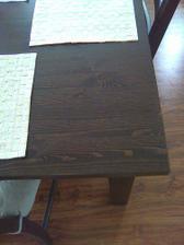 detail stolu