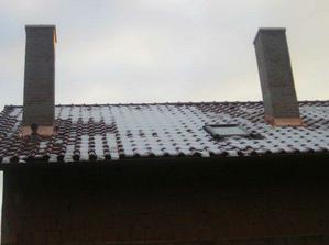 naše zničené komíny, výsledek zedníka mali být cervené:-(