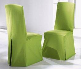 potah na židle, jak jinak než v zelené