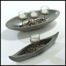 svícínek ve tvaru loďky, dala bych tam akorát modré svíčky