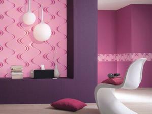 stěny ale v růžové s kombinací fialové