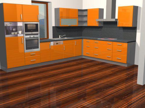 Naše bydlo - Zatím úplně první návrh kuchyně pro představu...