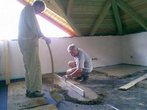 5.7. začínáme betonovat podlahy v podkroví