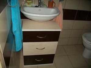 dočasná skrinka pod umývadlo