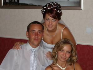 s bratom a jeho snubenicou,budu mat svadbu 17.7. 2010 Už sa velmi teším