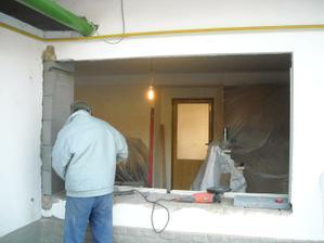 Demontáž a montáž oken 27.1.2012
