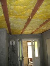 Zateplený strop v prádelně