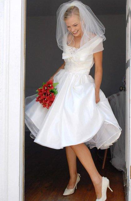 Moje retro svatba v krátkých šatech:-) - nakonec