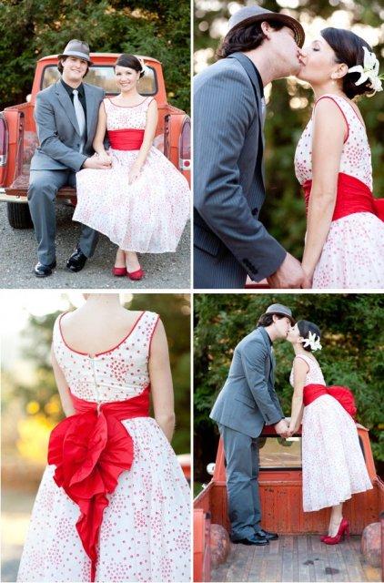 Moje retro svatba v krátkých šatech:-) - s dovolením Vetky - díky moc, přesně střih, jaký chci!!!